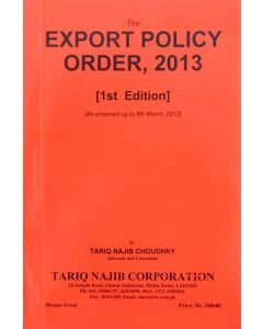 Export Policy Order, 2013