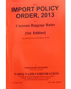Import Policy Order, 2013