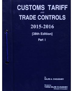 Customs Tariff and Trade Controls 2015-2016