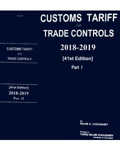 Customs Tariff and Trade Controls 2018-2019